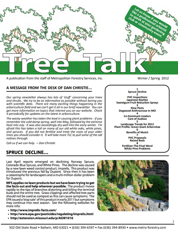 Thumbnail of the Winter/Spring 2012 Newsletter Issue
