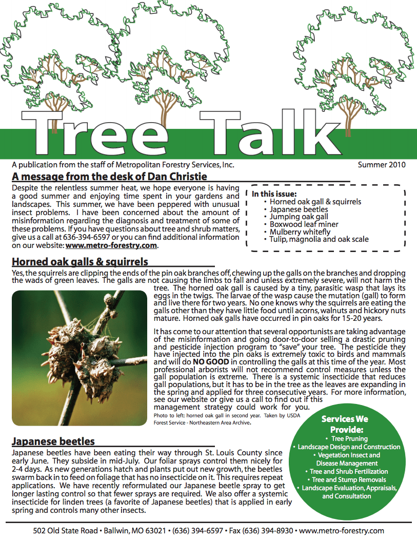Thumbnail of the Summer 2010 Newsletter Issue
